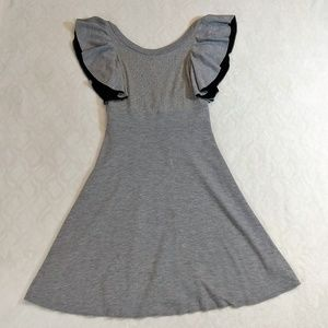 Free People ruffle sleeve heather grey dress flowy